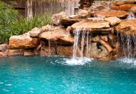 Waterfall and pool