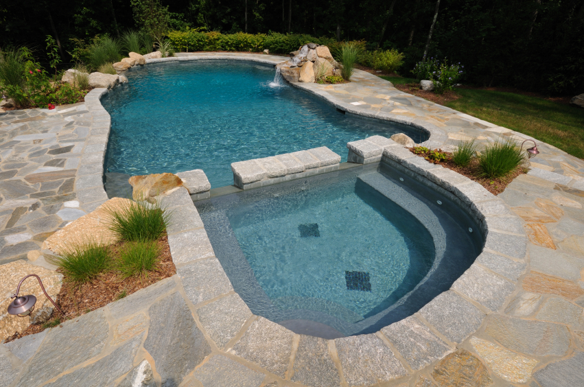 Spa pool combinations for Ideas to fill in inground pool
